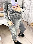 Женский костюм стильный из плюша в расцветках (Норма), фото 6
