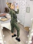 Женский костюм стильный из плюша в расцветках (Норма), фото 8