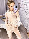 Женский костюм стильный из плюша в расцветках (Норма), фото 10