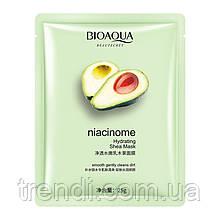 Маска для обличчя з екстрактом авокадо, м'яти і маслом ши bioaqua