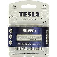 Батарейки TESLA Silver Алкалайн LR-06/блістер 4шт