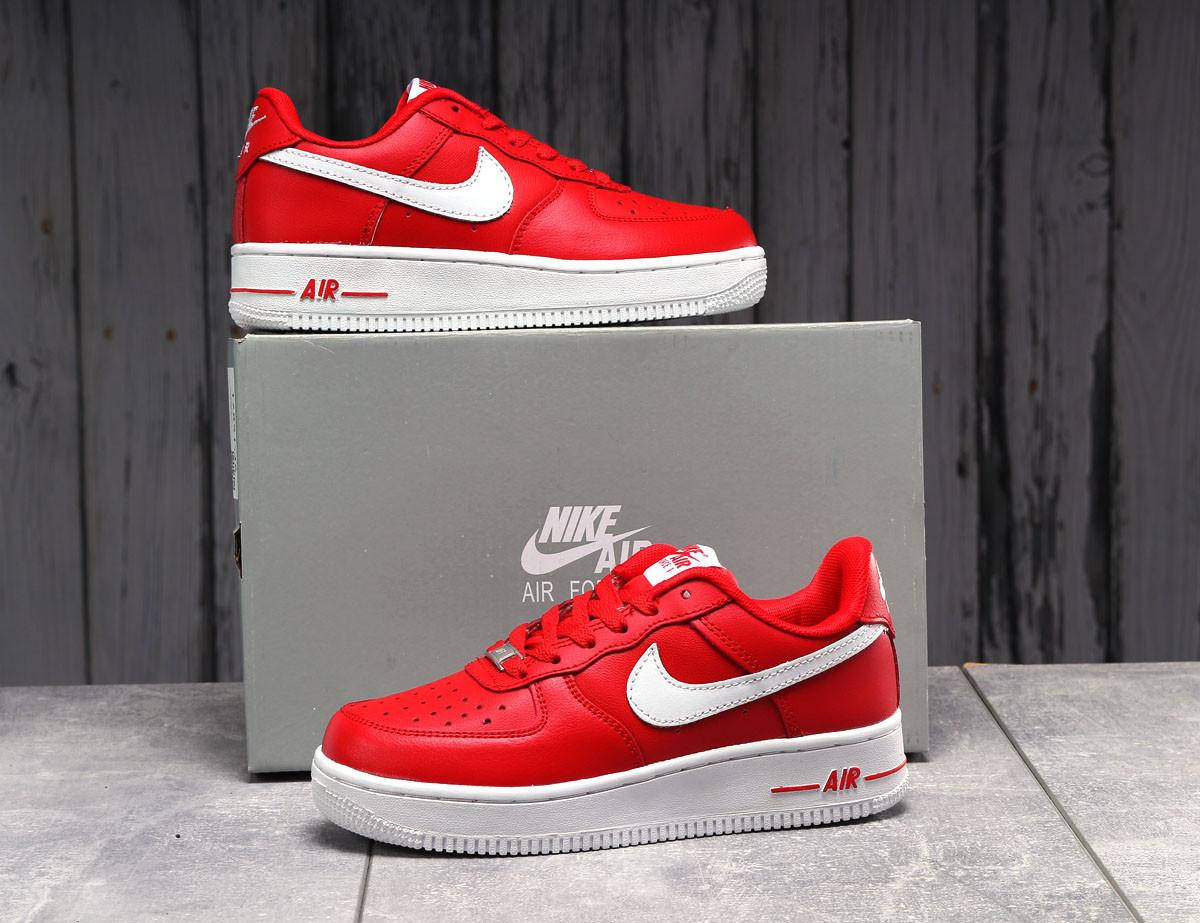 Кроссовки женские 17851, Nike Air Force 1, красные, [ 36 37 39 40 41 ] р. 36-23,0см.