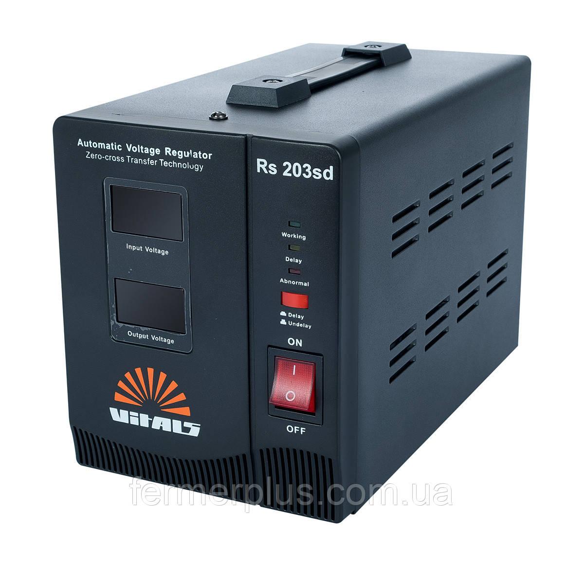 Стабилизатор напряжения Vitals Rs 203sd (140-260 В, 2000 Ва)