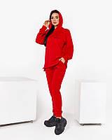 Женский стильный спортивный костюм с капюшоном и надписями (Норма и батал), фото 6