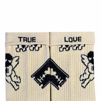 """Носки Дед Носкарь мужские 41-45 """"True Love Tattoo"""" бежевые, фото 2"""
