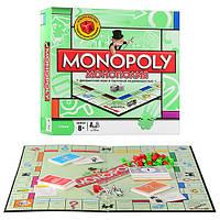 "JT Игра ""Монополия"" 6123 (24шт) жетоны,карточки,деньги,фигур зданий,кубики,в кор-ке, 27-27-5см"