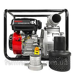 Мотопомпа бензиновая WEIMA WMQGZ80-30 (60 м.куб/час, патрубок 80 мм) Бесплатная доставка