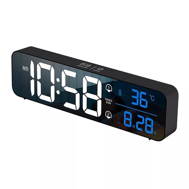 Настінний електронний годинник з термометром і календарем. Настільний електронний годинник акумулятор.