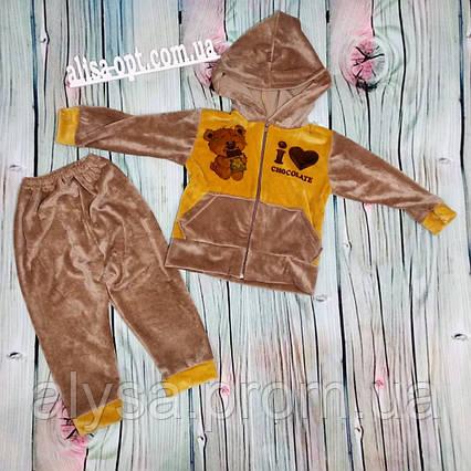Дитячий костюм Шоколад № 29 плюш велюр