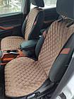 Шикарные накидки из ЭкоЗамши Премиум Митсубиси Паджеро Вагон 4 (Mitsubishi Pajero Wagon IV), фото 3