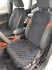Шикарные накидки из ЭкоЗамши Премиум Митсубиси Паджеро Вагон 4 (Mitsubishi Pajero Wagon IV), фото 5