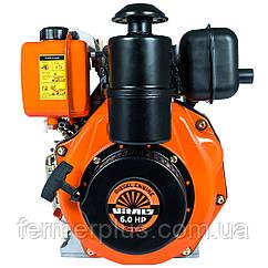 Двигатель дизельный Vitals DM 6.0k (6,0 л.с., ручной старт, сьем. цилиндр, шпонка Ø25,4мм, L=72мм)