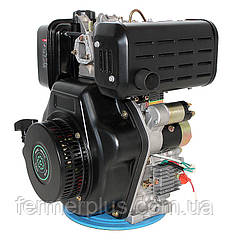 Двигатель дизельный Grünwelt GW192FВE  (14 л.с., вал шпонка Ø25 мм, электростартер)