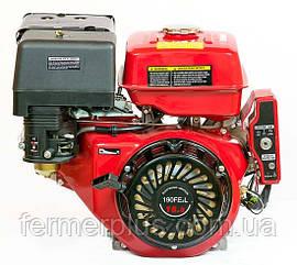 Двигатель бензиновый WEIMA WM190FЕ-L (16л.с., шпонка Ø25мм, L=60 мм, редуктор, эл.старт)