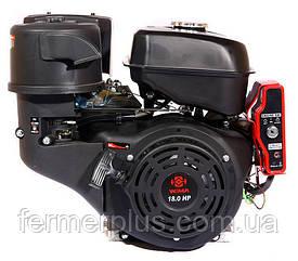 Двигатель бензиновый WEIMA WM192FЕ-S NEW (18 л.с., шпонка Ø25мм, L=60мм, эл.стартер)