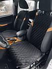 Шикарные накидки из ЭкоЗамши Премиум Хендай Санта Фе (Hyundai Santa Fe), фото 2