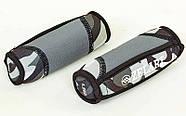 Гантели для фитнеса с мягкими накладками Zelart (2x1,5кг) (2шт, наполнитель-метал.шарики, серый каму, фото 3