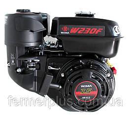 Двигатель бензиновый WEIMA WM230F-S New CL (7,5 л.с., шпонка Ø20мм, 1/2 редуктор с центробежныс сцеплением)