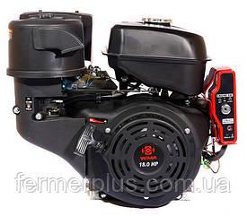 Двигатель бензиновый WEIMA WM192FЕ-S NEW CL (18 л.с, шпонка Ø25мм,, эл.старт, 1/2 редуктор с муфтой сцепления)