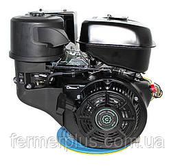 Двигатель бензиновый Grünwelt GW460F-S CL  (18 л.с., шпонка Ø25 мм, 1/2 редуктор с центробежныс сцеплением)
