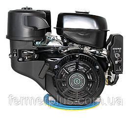 Двигатель бензиновый Grünwelt GW460FЕ-S CL  (18 л.с., шпонка Ø25 мм, эл.старт, 1/2 редуктор с муфтой сцеплени)