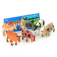 """Детская игрушка  """"Домашние животные -Ферма"""" 6 животных в наборе"""