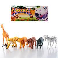 """Дитяча іграшка """"Дикі тварини"""" 6 тварин в наборі"""