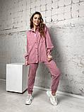Жіночий вельветовий костюм в стилі oversize 2-058, фото 2