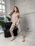 Жіночий вельветовий костюм в стилі oversize 2-058, фото 3