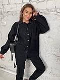 Жіночий вельветовий костюм в стилі oversize 2-058, фото 4