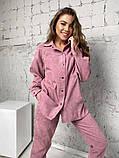 Жіночий вельветовий костюм в стилі oversize 2-058, фото 5