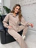 Жіночий вельветовий костюм в стилі oversize 2-058, фото 6