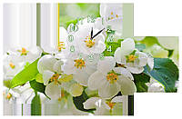 Настенные часы Декор Карпаты s269T Цветы вишни (vUiI91441)