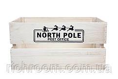 Новорічний ящик дерев'яний Північний полюс Seasons & Style 38 х 23 х 19 см