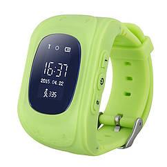Детские умные часы (смарт часы с GPS + родительский контроль)  smart watch Q50, (Зеленый)