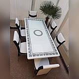 6-002 Стіл розкладний зі скла і 6 стільців, фото 3