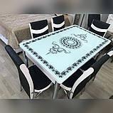 6-038 Стіл розкладний зі скла і 6 стільців, фото 2
