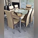 6-010 Стіл розкладний зі скла і 6 стільців, фото 3