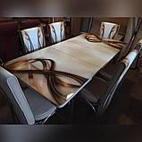 6-010 Стіл розкладний зі скла і 6 стільців, фото 4
