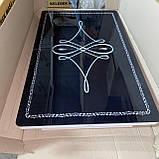 6-064 Стіл розкладний зі скла і 6 стільців, фото 2