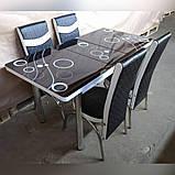 6-041 Стіл розкладний зі скла і 6 стільців, фото 5