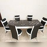6-041 Стіл розкладний зі скла і 6 стільців, фото 6