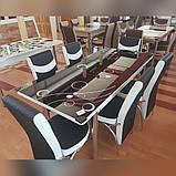 6-041 Стіл розкладний зі скла і 6 стільців, фото 7