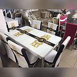 6-004 Стіл розкладний зі скла і 6 стільців, фото 2