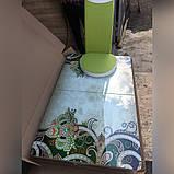 6-035 Стіл розкладний зі скла і 6 стільців, фото 3