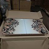 6-054 Стіл розкладний зі скла і 6 стільців, фото 3