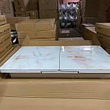 6-085 Стіл розкладний зі скла і 6 стільців, фото 2