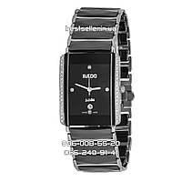 Часы RADO INTEGRAL CERAMICA DIMONDS Black/Silver Quartz. Реплика: ААА., фото 1