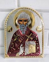 Ікона Святитель Святий Спиридон із сріблом 15.5х12см (Греція)