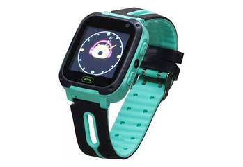 Детские умные часы (смарт часы с GPS + родительский контроль + фонарь) Smart Baby S4, (Зеленый)